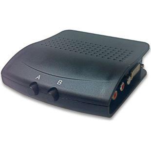 DVI-I 24+5 (Dual Link) Umschalter, 2-fach, mit Ton - Bild 1