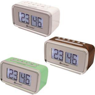 Soundmaster UR105 Retro-PLL UKW Uhrenradio, verschiedene Farben Farbe: Weiß - Bild 1