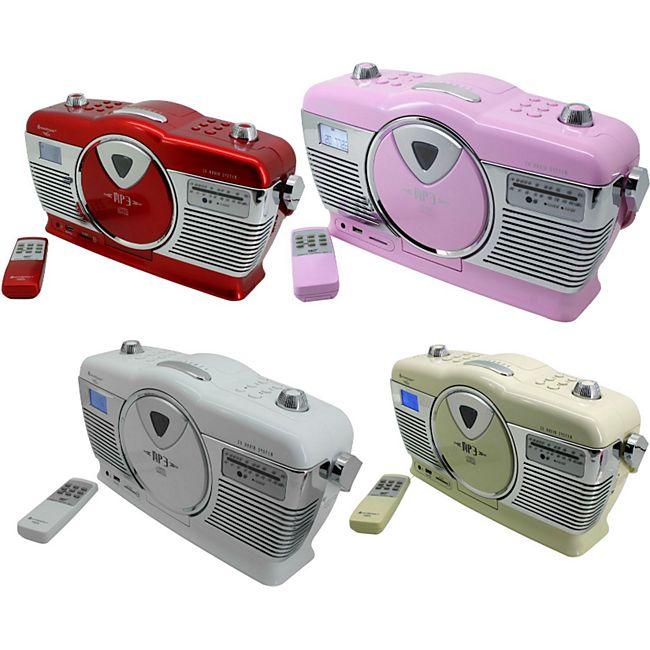 Soundmaster RCD1350 Retro CD/MP3/USB Radio in verschiedenen Farben Farbe: beige - Bild 1