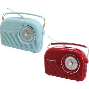 Soundmaster DAB450 DAB+/ UKW Retro Radio in verschiedenen Farben Farbe: Blau - Bild 1