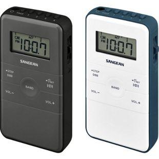Sangean DT-140 Taschenradio UKW Stereo und MW tragbar in versch. Farben Farbe: Grau-Schwarz - Bild 1