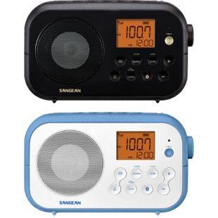 Sangean PR-D12BT Traveller 120 UKW-Radio mit Bluetooth tragbar versch. Varianten Farbe: Schwarz - Bild 1