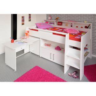 """Parisot Multifunktionshochbett mit Schreibtisch """"Swan 1"""" - Bild 1"""