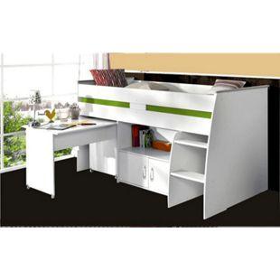 """Parisot Multifunktionshochbett mit Schreibtisch """"Reverse 1"""" - Bild 1"""
