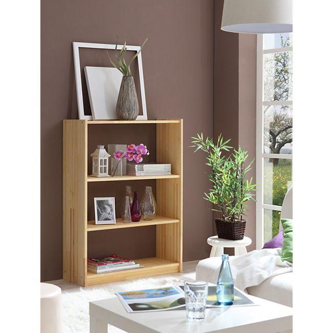 TiCAA Standregal Bücherregal Kiefer Natur H111cm - Bild 1