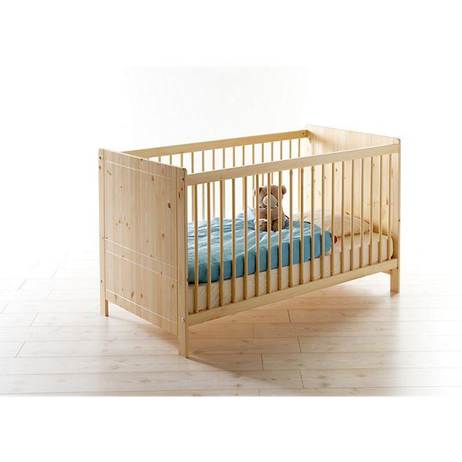 TiCAA Baby Gitterbett Moritz Kiefer Natur - Bild 1