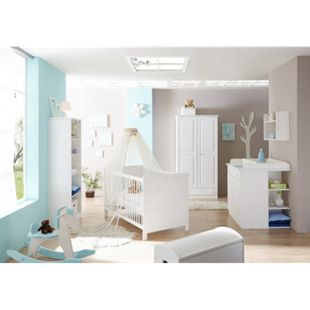 TiCAA Babyzimmer Moritz 5-teilig Kiefer Weiß - Bild 1