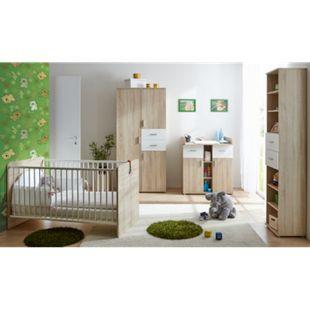 TiCAA Babyzimmer Nico 4-teilig Sonoma-Weiß - Bild 1