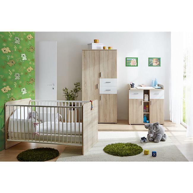 TiCAA Babyzimmer Nico 3-teilig Sonoma-Weiß - Bild 1