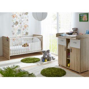 TiCAA Babyzimmer Nico 2-teilig Sonoma-Weiß - Bild 1