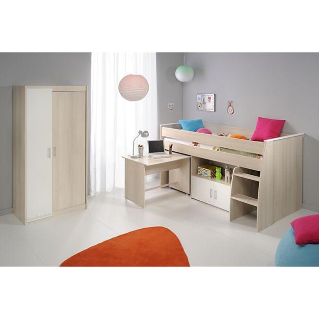 """Parisot Multifunktionsbett mit Kleiderschrank """"Charly 5"""" Akazie-Weiß - Bild 1"""