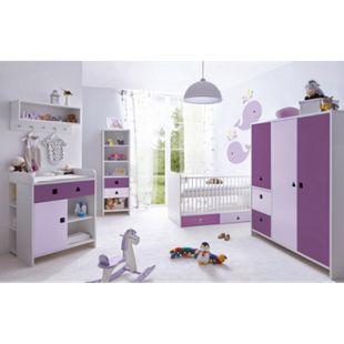 TiCAA Babyzimmer 5 teilig Cubo mit 3 türigen Schrank - Bild 1