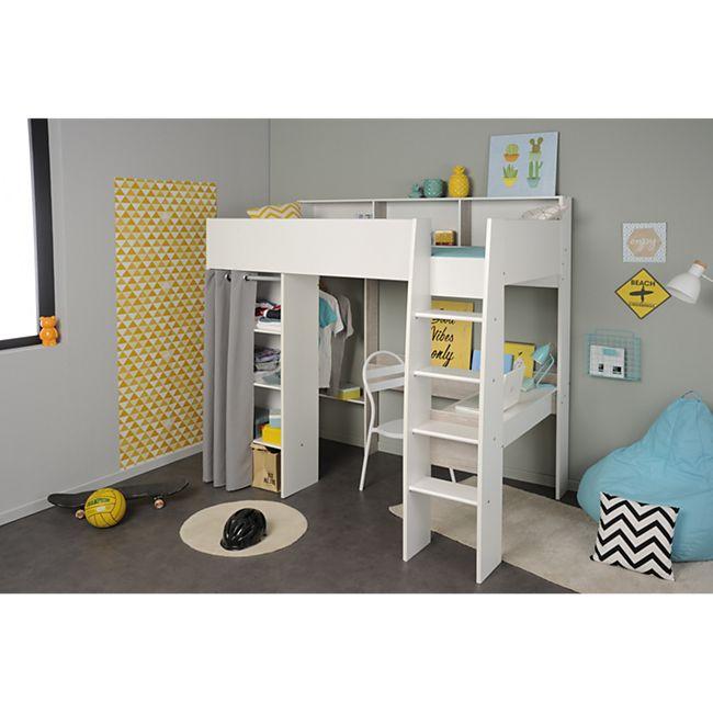 Parisot Hochbett Taylor Set Weiß - Grau Loft - Bild 1