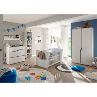TiCAA Babyzimmer Paul 4-teilig Weiß-Eiche - Bild 1
