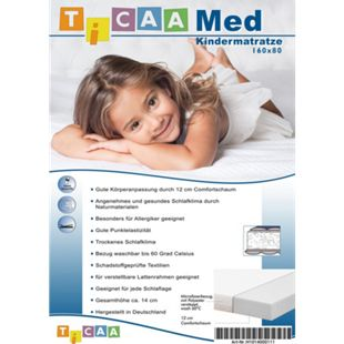 TiCAA Kindermatratze MedAllergen 80x160 | Kinderzimmer > Textilien für Kinder > Kinderbettwäsche | TICAA