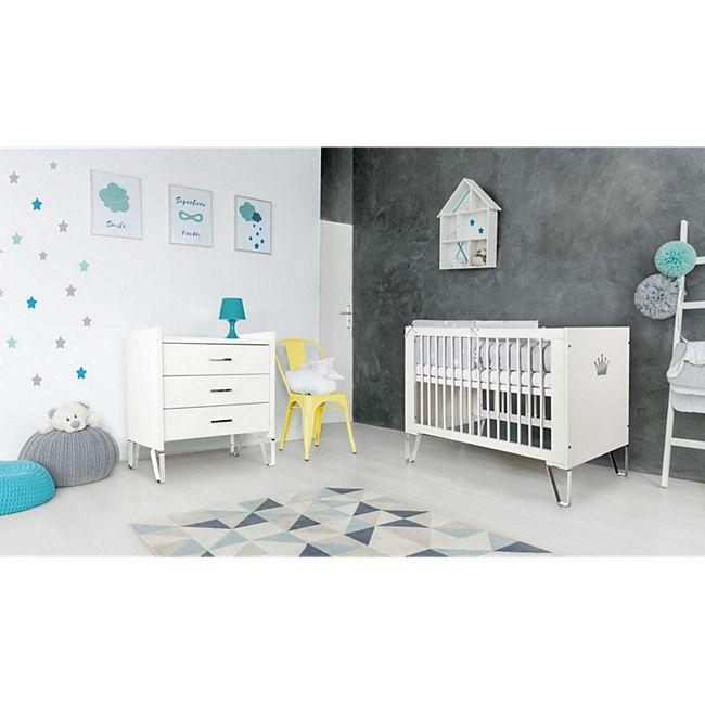 "TiCAA Babyzimmer Set ""Blanka"" 2-teilig Weiß - Bild 1"