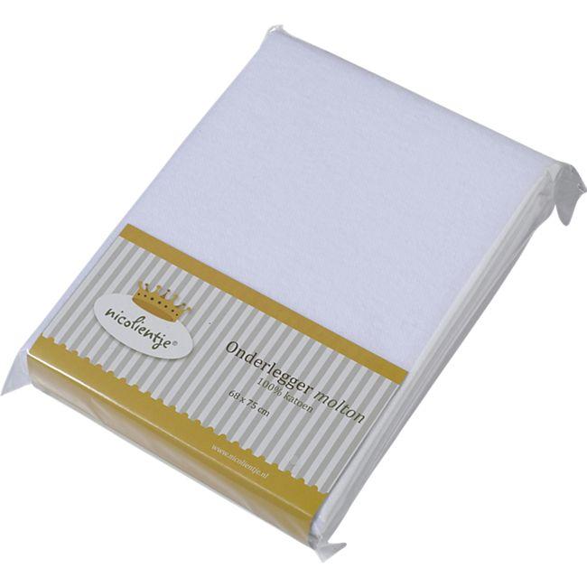 TiCAA Spannbettlaken Babybetttuch ohne Muster weiß - Bild 1