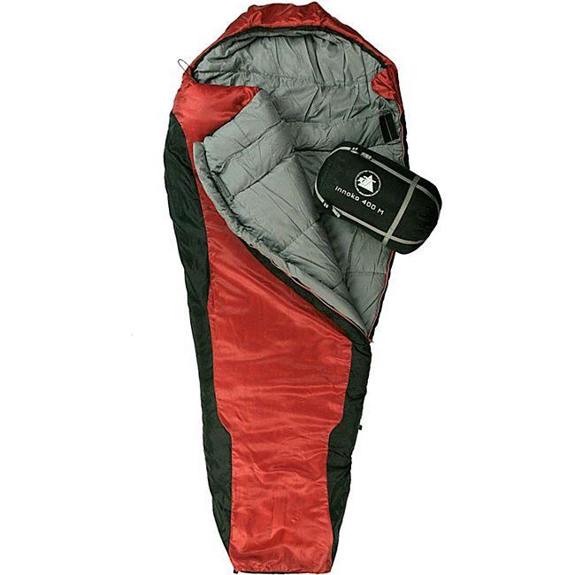 10T Schlafsack Innoko M -21° warm weich 2500g Mumienschlafsack 200x85 Rot / Schwarz 400g/m² - Bild 1