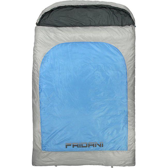 detaillierte Bilder mäßiger Preis erstaunlicher Preis Fridani 2 Mann Schlafsack BB 235x150cm XXL Deckenschlafsack Blau -22°C warm  wasserabweisend waschbar