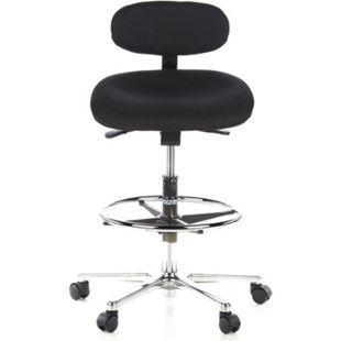 hjh OFFICE Arbeitsstuhl Arbeitshocker WORK MF ohne Armlehnen - Bild 1