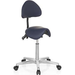 hjh OFFICE Arbeitsstuhl Arbeitshocker TOP WORK 20 ohne Armlehnen - Bild 1