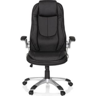 hjh OFFICE Home Office Chefsessel FIRST mit abklappbaren Armlehnen - Bild 1