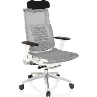 hjh OFFICE High End Bürostuhl DYNAFIT WHITE mit Armlehnen - Bild 1