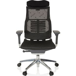 hjh OFFICE High End Bürostuhl DYNAFIT BLACK mit Armlehnen - Bild 1