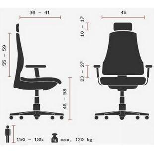 hjh OFFICE Luxus Chefsessel ERGOHUMAN SLIM mit Armlehnen (höhenverstellbar) - Bild 1