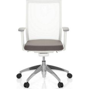 hjh OFFICE Profi Bürostuhl ASPEN WHITE mit Armlehnen (höhenverstellbar) - Bild 1