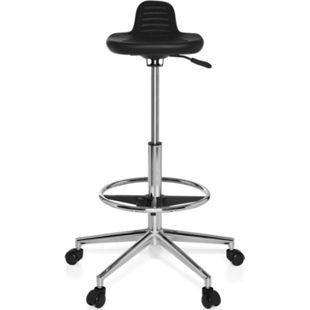 hjh OFFICE Arbeitsstuhl Arbeitshocker TOP WORK 03 ohne Armlehnen - Bild 1