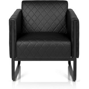hjh OFFICE Lounge Sofa ARUBA BLACK mit Armlehnen - Bild 1