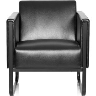 hjh OFFICE Lounge Sofa BALI BLACK mit Armlehnen - Bild 1