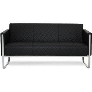 hjh OFFICE Lounge Sofa ARUBA STEP mit Armlehnen - Bild 1