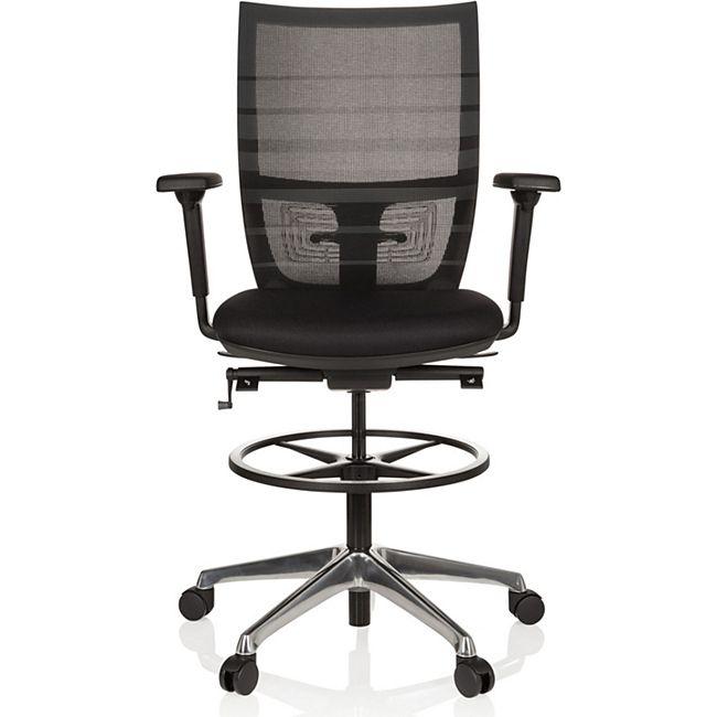 hjh OFFICE Arbeitsstuhl Arbeitshocker TOP WORK 98 mit Armlehnen (höhenverstellbar) - Bild 1