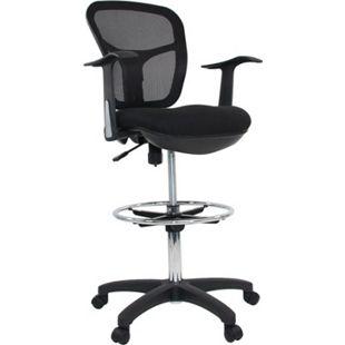 hjh OFFICE Arbeitsstuhl Arbeitshocker TOP WORK 108 mit Armlehnen - Bild 1