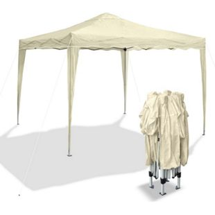 JOM Gartenpavillon Bahama I, Falt-Pavillon 3 x 3 m, beige, Material Oxford 200D, Metallgestänge, inkl. Tasche - Bild 1