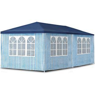 JOM Gartenpavillon 3 x 6 m,  Pavillon, Pavillion, Partyzelt, Festzelt, Gartenzelt, mit 6 Seitenwänden 110G PE - Bild 1