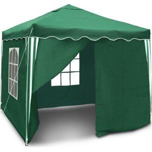 JOM Gartenpavillon, Wasserdicht,  Falt-Pavillon Bristol , mit Extra Beschichtung, mit Seitenwänden und Tasche, 3 x 3 m, Grün - Bild 1
