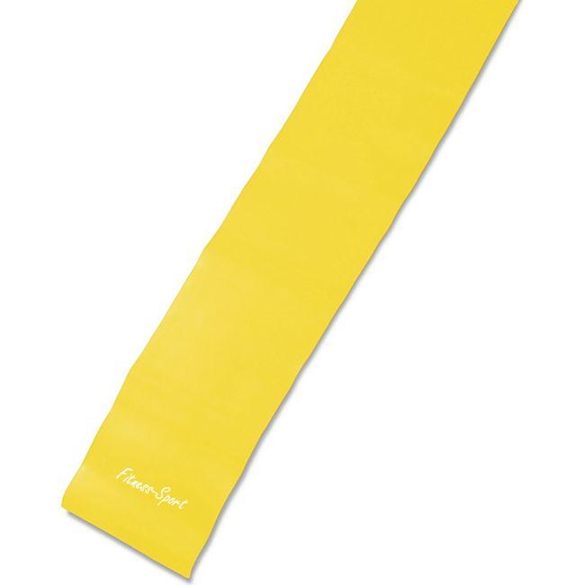 JOM Gymnastikband, Fitness-Sport, Fitnessband 250cm x 15cm, gelb Training Stufe leicht 0,25mm Stärke aus Naturkautschuk - Bild 1