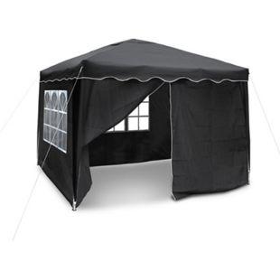 JOM Gartenpavillon, Falt-Pavillon 3 x 3 m, Material Oxford 200D schwarz mit Seitenwänden und Tasche - Bild 1