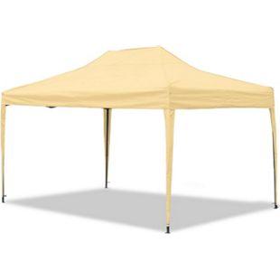 JOM Gartenpavillon, wasserdicht, 3 x 4,5 m, Falt-Pavillon Mallorca, Material Oxford 420D innen beschichtet, beige - Bild 1