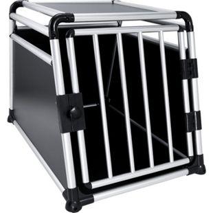 JOM Hundebox Hundetransportbox Transportbox Hund Alubox Reisebox Gitterbox Auto M/L 63 x 65 x 90 cm - Bild 1