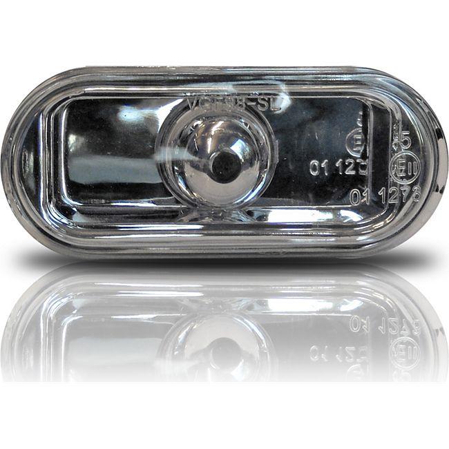 JOM Seitenblinker, Klarglas / chrom passend für VW Golf 3, Golf 4, Vento, Lupo - Bild 1