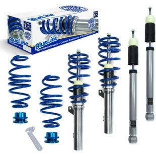 JOM BlueLine Gewindefahrwerk Seat Leon inkl. ST-Modelle (5F) 1.2 TSI, 1.4 TGI / TSi ab Baujahr 2012 nur passend bei Fahrzeugen mit Verbundlenker - Bild 1