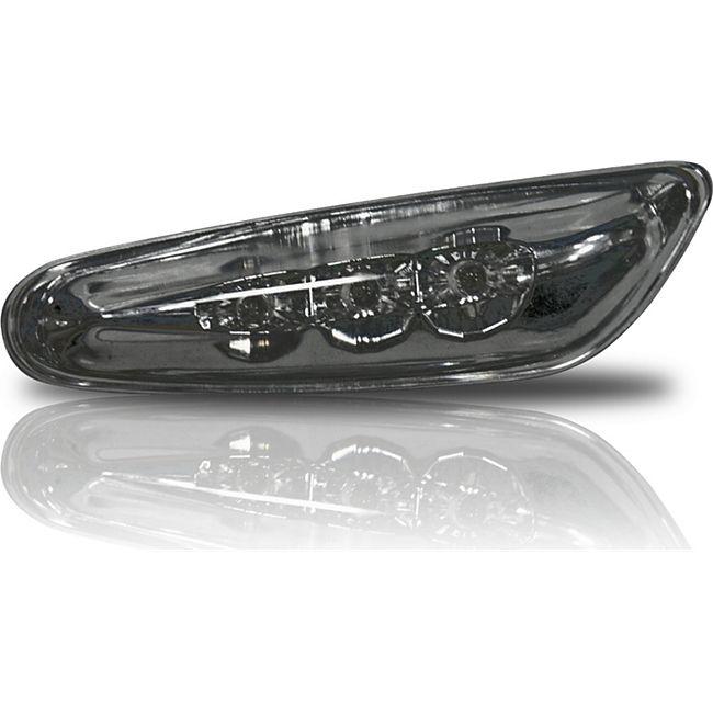JOM Seitenblinkleuchten, LED, Klar/Rauch BMW E46 09/01-05, E60/E61 03-07/ E90 05-/ E87/X3 04- - Bild 1
