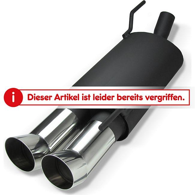 jom stahl endschalld mpfer mit 2x 76mm dtm look endrohren. Black Bedroom Furniture Sets. Home Design Ideas