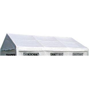 DEGAMO Ersatzdach / Dachplane PALMA für Zelt 4x6 Meter, PE weiss 180g/m², incl. Spanngummis - Bild 1