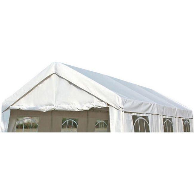 DEGAMO Ersatzdach / Dachplane PALMA für Zelt 3x6 Meter, PE weiss 180g/m², incl. Spanngummis - Bild 1