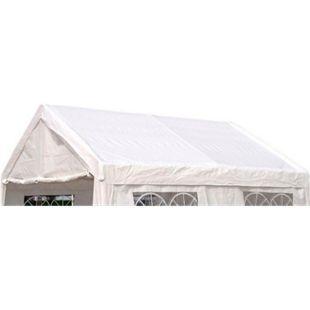 DEGAMO Ersatzdach / Dachplane PALMA für Zelt 4x4 Meter, PVC weiss 480g/m², incl. Spanngummis - Bild 1